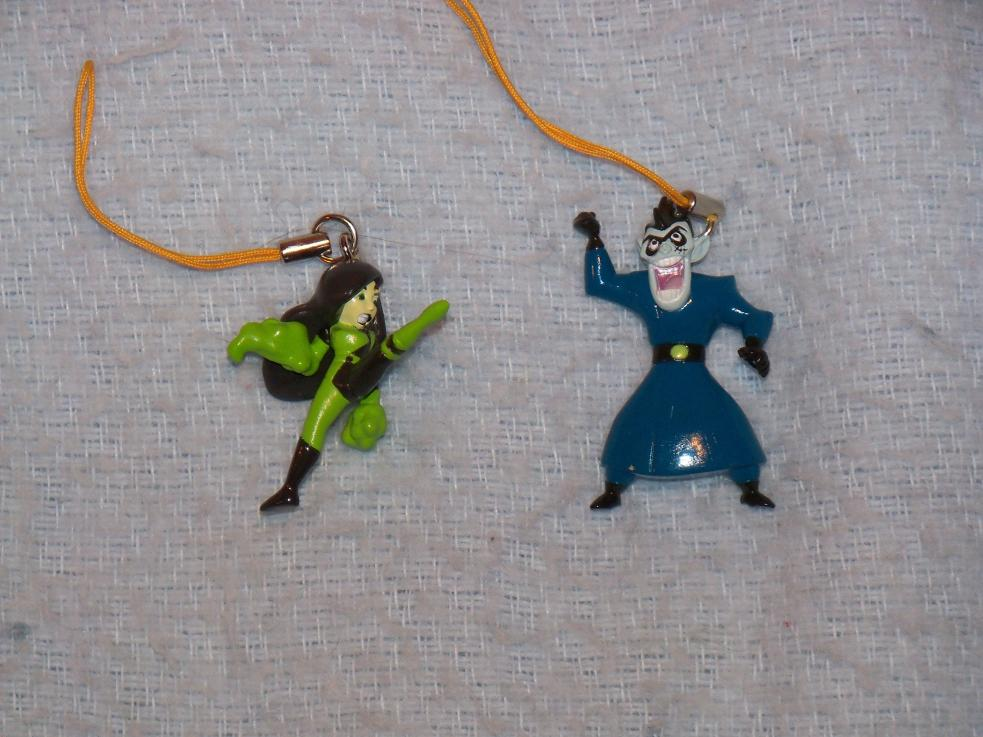Name:  Shego (Right Side View) and Drakken Cell Phone Charms.jpg
